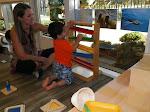 LePort Preschool Huntington Beach - Tracking balls at Irvine Montessori childcare for babies
