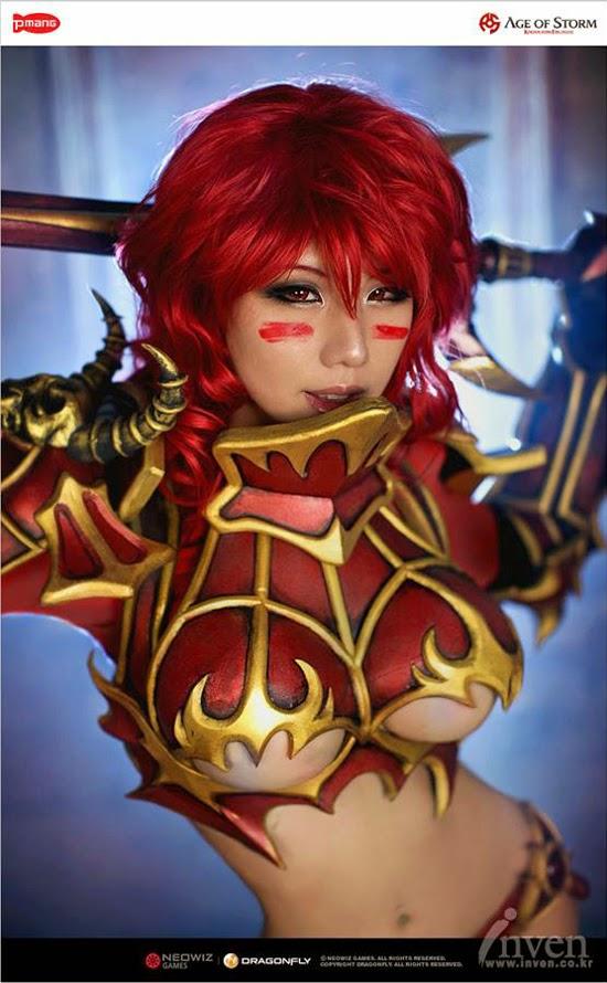 Tasha nhá hàng về cosplay mới cho Age of Storm - Ảnh 3