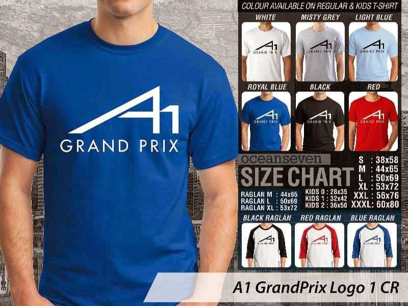 KAOS A1 GrandPrix Logo Otomotif distro ocean seven