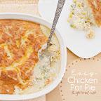 Chicken Pot Pie- Lightened Up