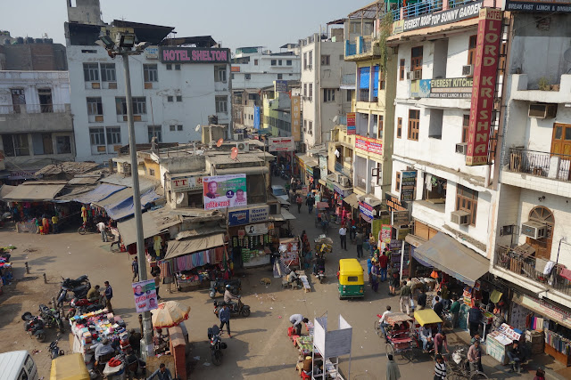 Paharganj by day, taken from one of the many rooftop cafes.
