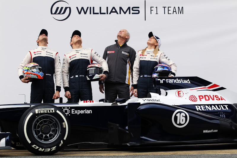 Пастор Мальдонадо Вальтери Боттас Сьюзи Вольф - презентация Williams FW35 19 февраля 2013