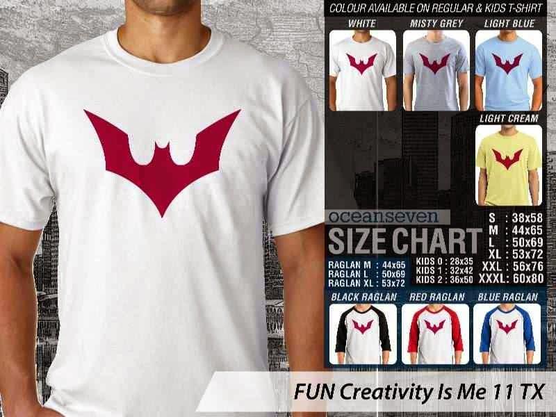 Kaos Lucu FUN Creativity Is Me 11 Batman distro ocean seven
