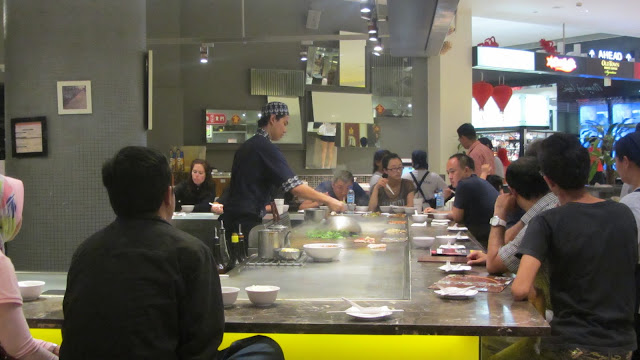 Cheap and tasty Teppenyaki at a mall food court.