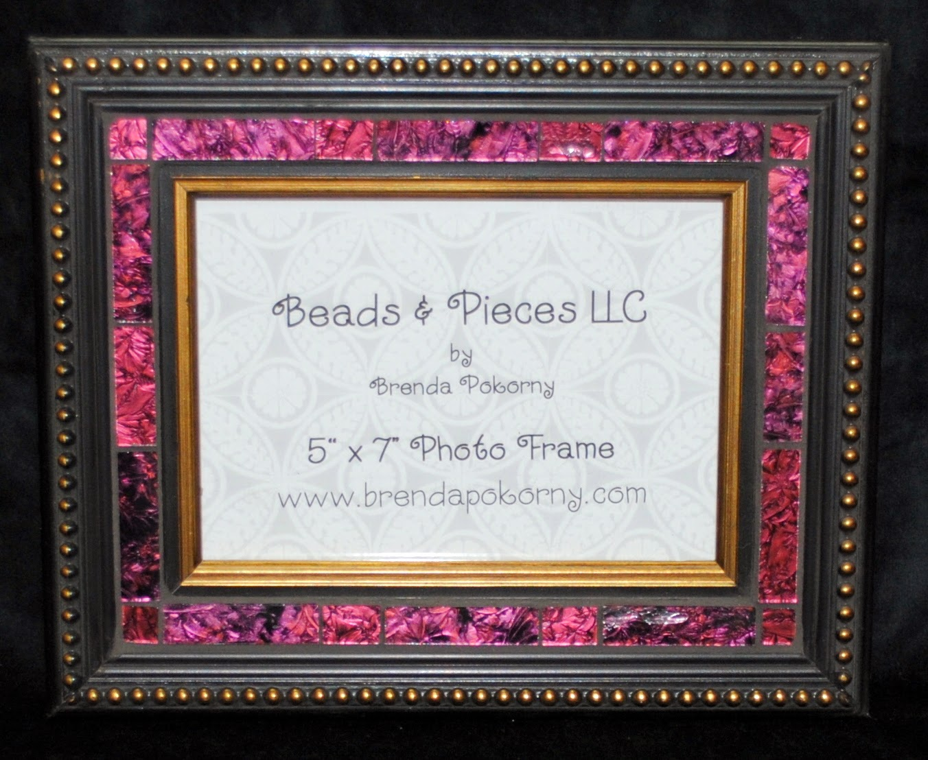 "Ruby Glass Elegant 5"" x 7"" Photo Frame MOF1391"