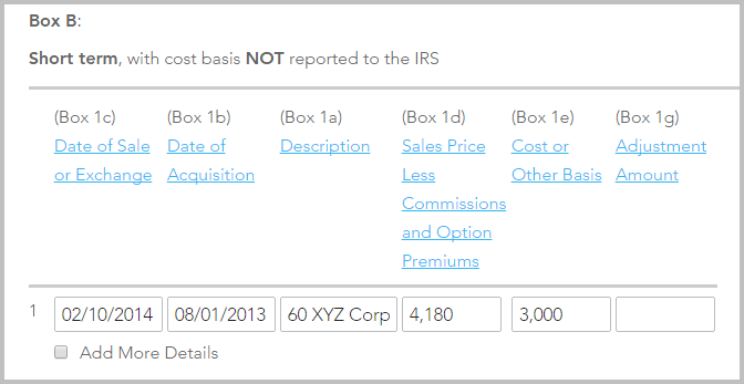 Stock options not reported to irs