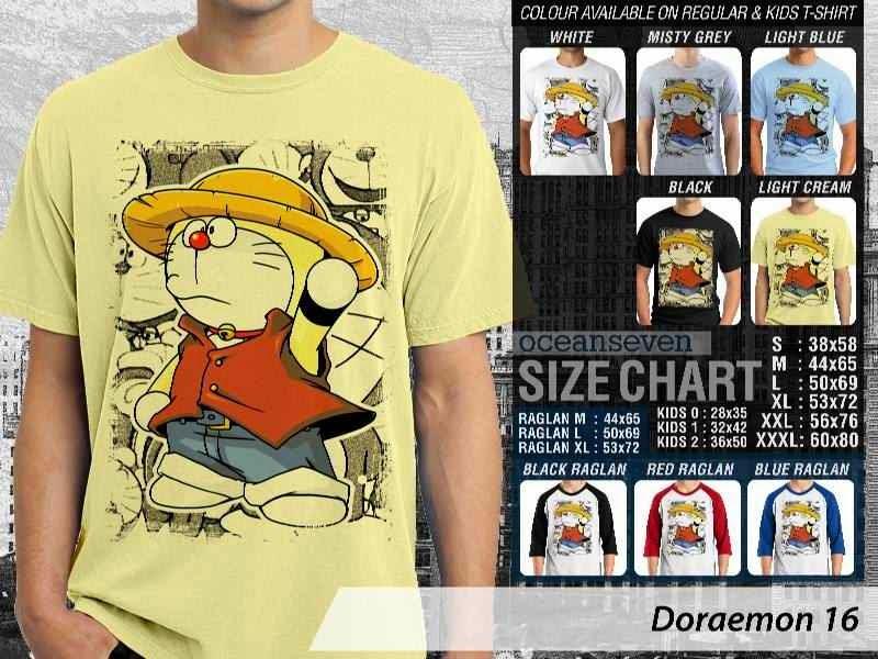 KAOS Doraemon 16 Manga Lucu distro ocean seven
