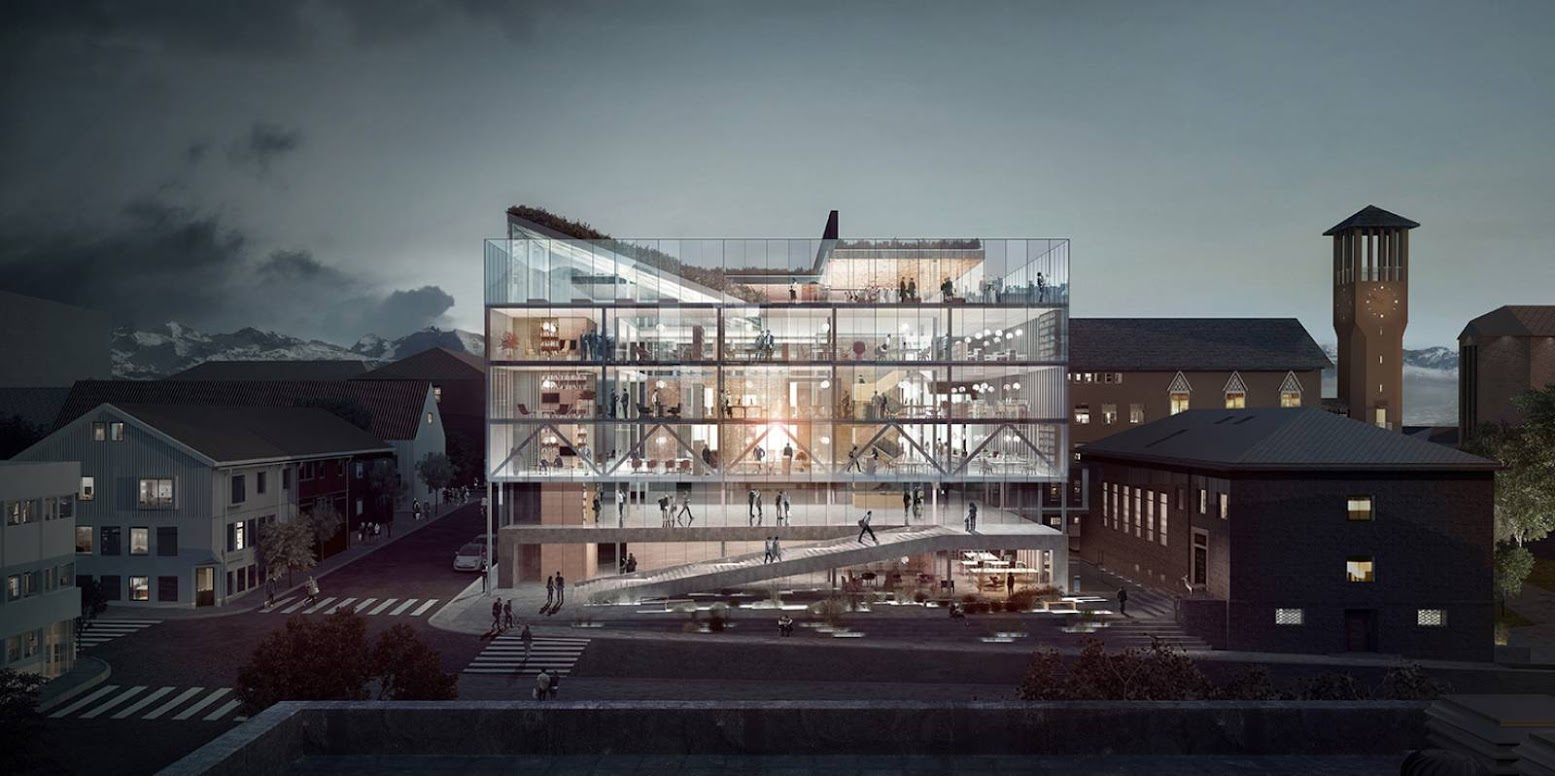 Bodø, Norvegia: [BODØ CITY HALL BY TRANSBORDER STUDIO]