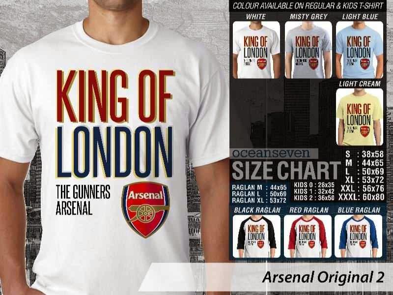 Kaos Bola Arsenal 3 Logo Klub Liga Inggris