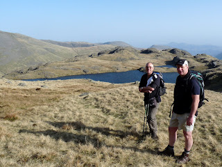 David and Richard (with Sprinkling Tarn behind) before we start the ascent of Great End