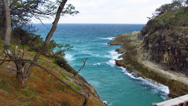 A beautiful cove near the Point Lookout Headland.
