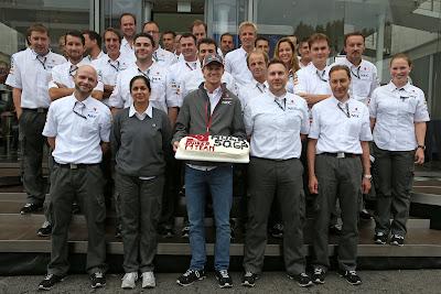 Нико Хюлькенберг отмечает свою 50-ую гонку на Гран-при Бельгии 2013