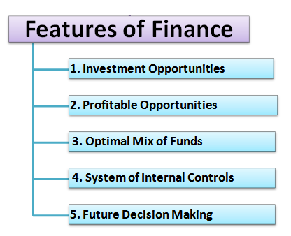 features of finance