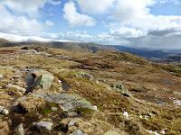 Just below the summit of Calf Crag looking towards Rough Crag