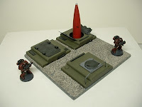 Underground missile silos Military Science Fiction war game terrain and scenery