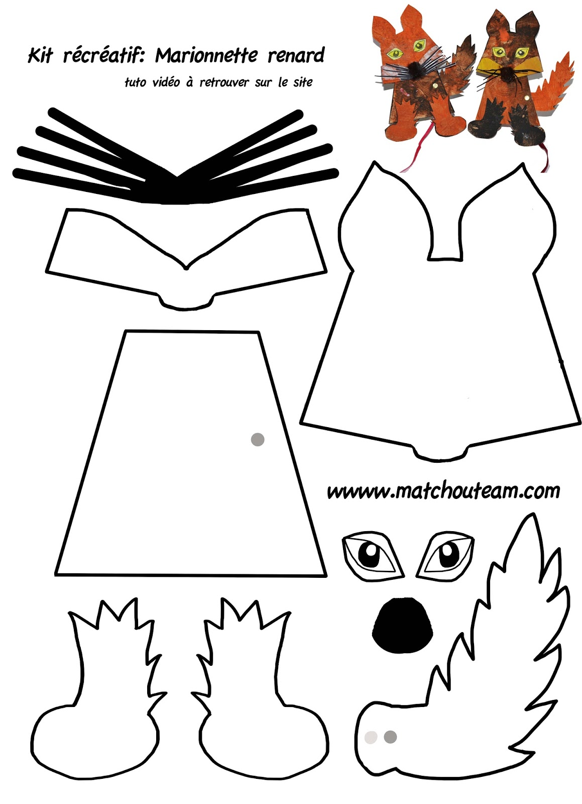 The gallery for minecraft wolf mask template - Dessin renard ...