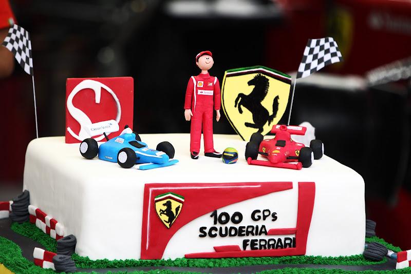 торт Фелипе Массе на Гран-при Бразилии 2011