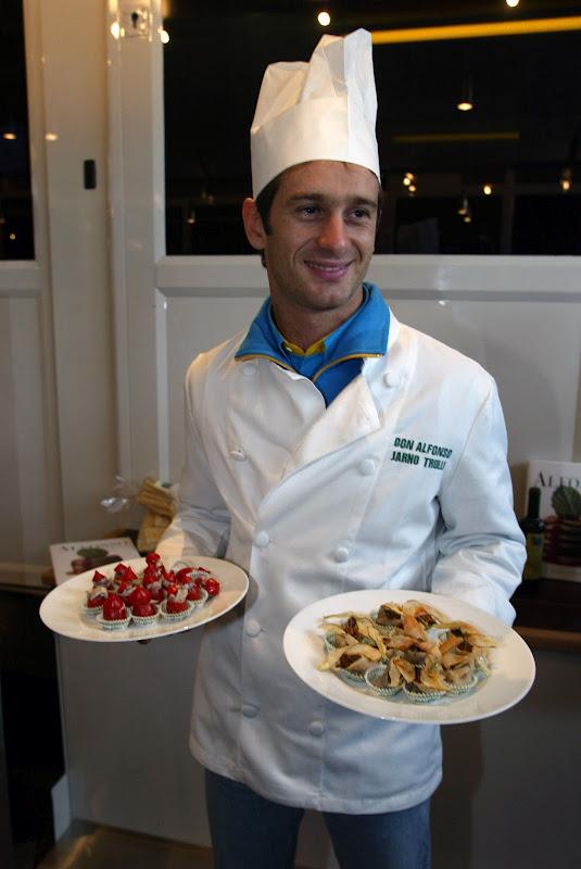 шеф-повар Don Alfonso Ярно Трулли на Гран-при Сан-Марино 2002