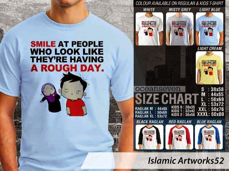 KAOS Muslim Smile at people who look like theyre having a rough day. Islamic Artworks 52 distro ocean seven