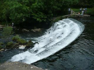 Weir in Monsal Dale on River Wye