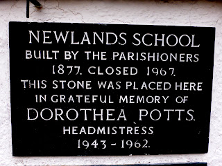 Newlands School sign at Newlands Church