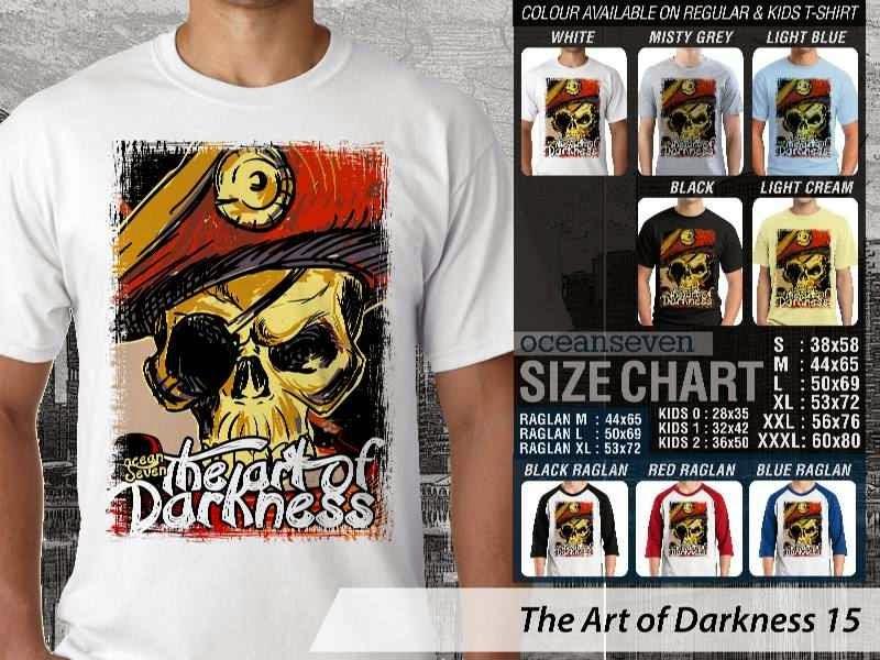 KAOS keren skull tengkorak The Art of Darkness 15 distro ocean seven