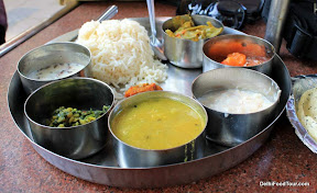 Indian food thaali
