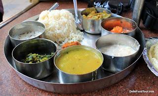 Indian food thaali
