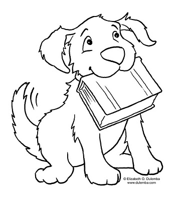 Kids-n-fun 68 coloring pages of Cats and dogs - coloring pictures of dogs