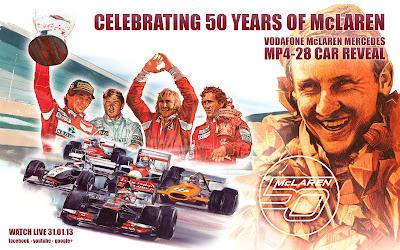 открытка McLaren 50