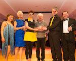 The winners Eleanor McQuaid and Tommy Greenan