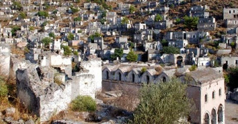Deserted Greek village for sale in Turkey