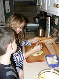 New Year's Eve was nice and quiet. We made homemade pizzas.
