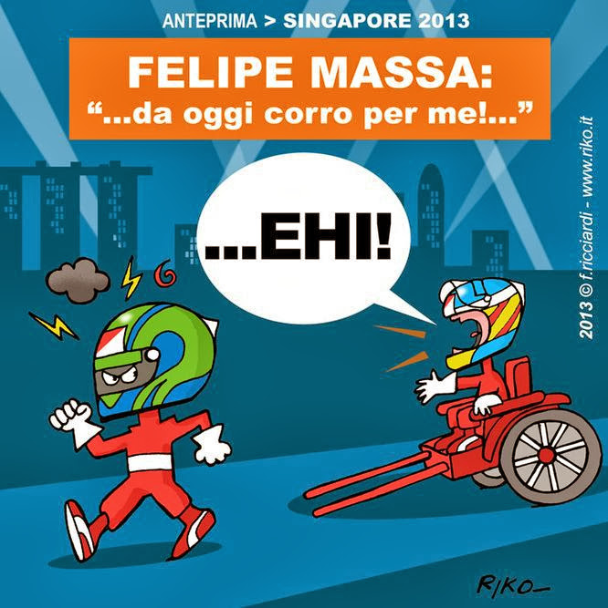 Фелипе Масса больше не помогает Фернандо Алонсо - комикс Riko перед Гран-при Сингапура 2013
