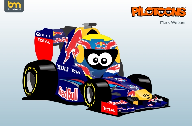 Марк Уэббер Red Bull RB8 pilotoons 2012