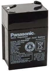 Baterai SLA 6V/4AH merek Panasonic (disebut juga sebagai aki kering)