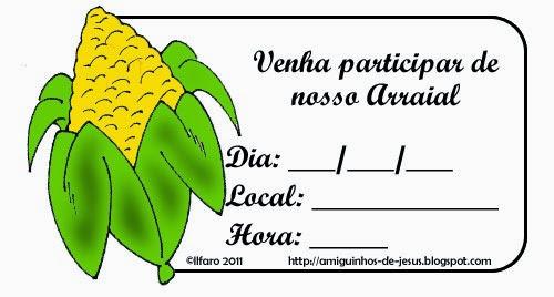 convite festa junina milho