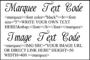 how to move text and images in marquee codes