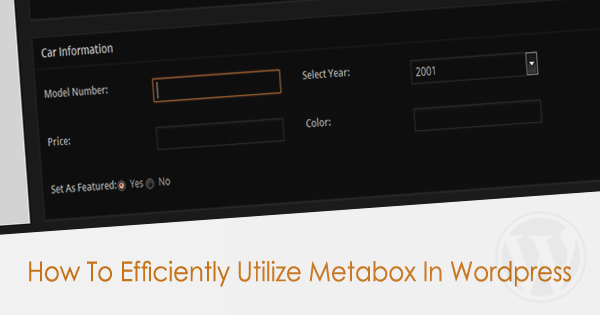How To Utilize Wordpress Metabox