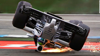 авария Фелипе Массы на первом круге Гран-при Германии 2014