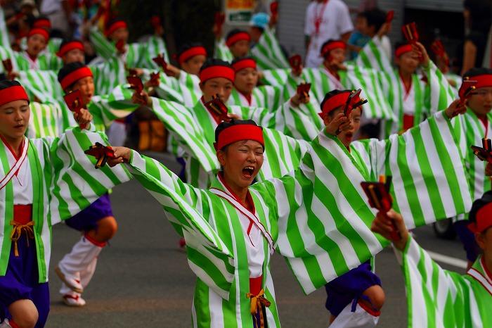 第59回よさこい祭り☆本祭1日目・升形地域競演場75☆上1目2009
