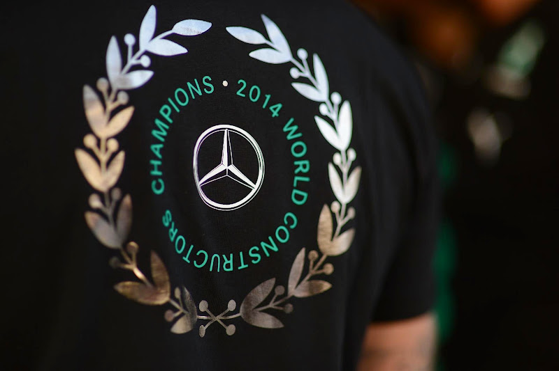 победная футболка Mercedes Гран-при России 2014