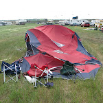 you know it's windy when you see your flattened campsite