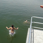 we dared her to jump off...hoping it might cause a wardrobe malfunction