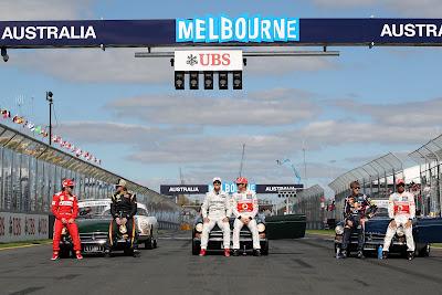 шесть чемпионов на стартовой решетке на Гран-при Австралии 2012