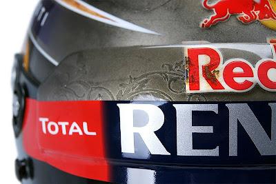 шлем Себастьяна Феттеля с быком на Гран-при США 2013