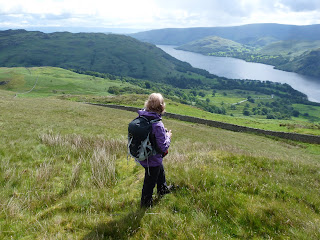 Maggie looks to Ullswater and Hallin Fell.