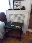 black lacquered butterfly upcycled table