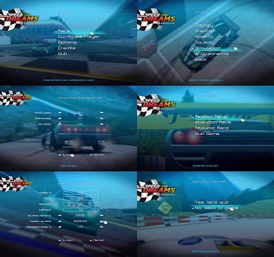 Speed dreams new menu design