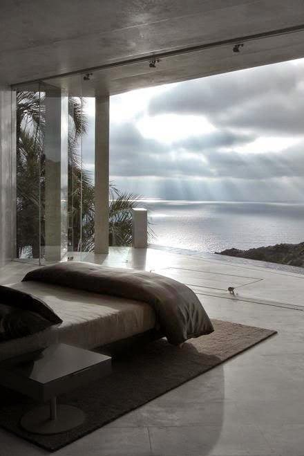schlafzimmer entspannung ausblick meer